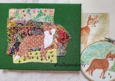 'fox' Mixed media- Sally-Ann Duffy