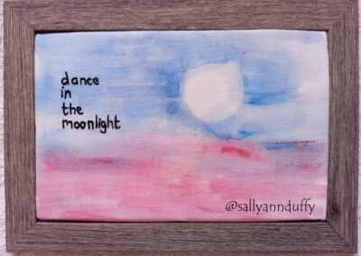 'Dance' Hand painted embroidery- Sally-Ann Duffy