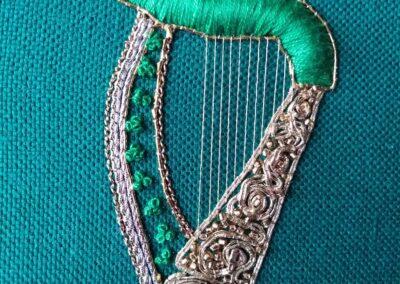 'Goldwork Harp'- Sally-Ann Duffy