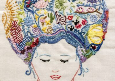 'Creative Thinking' Hand embroidery Sally-Ann Duffy