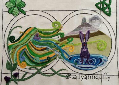 Cailleach of lough an Lea- Hand Embroidery- Sally-Ann Duffy