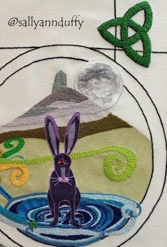 Cailleach of lough an Lea - Hand Embroidery- Sally-Ann Duffy