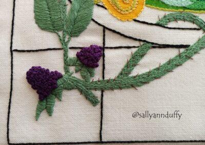 Cailleach of Lough an Lea -Hand Embroidery- Sally-Ann Duffy