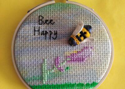 'Bee Happy' Handmade bee button-Sally-Ann Duffy